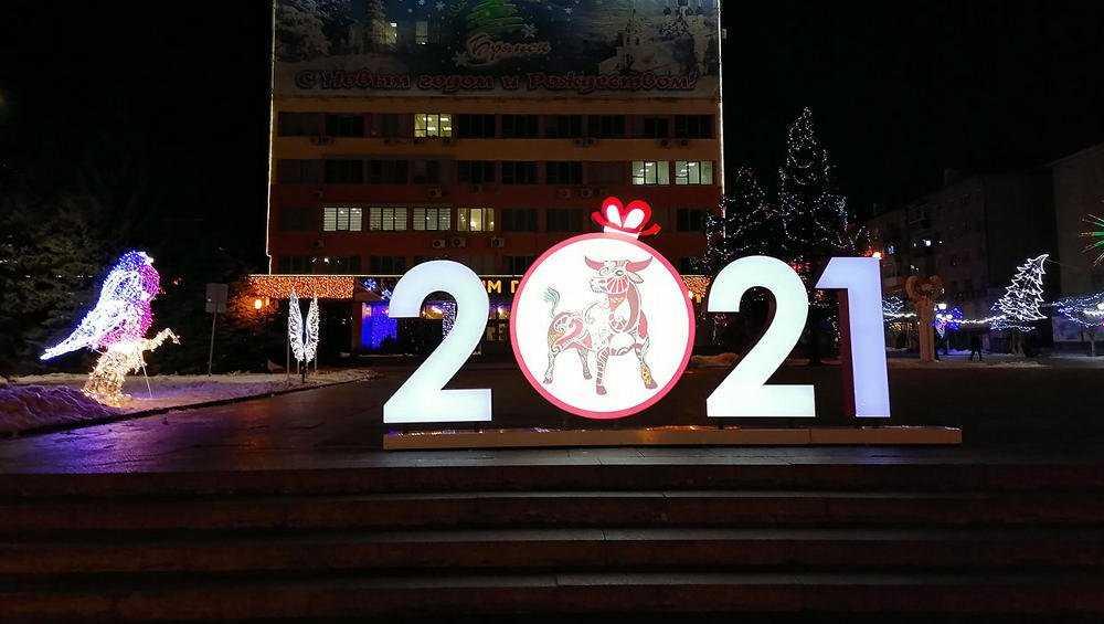 Парки и улицы Брянска украсили к Новому году