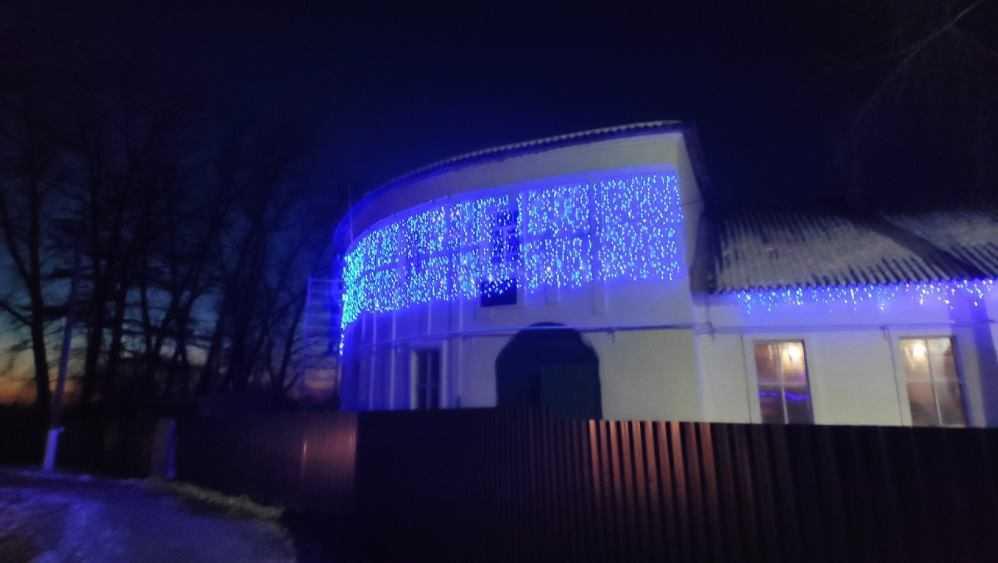 Локотской конезавод украсили иллюминацией к Новому году