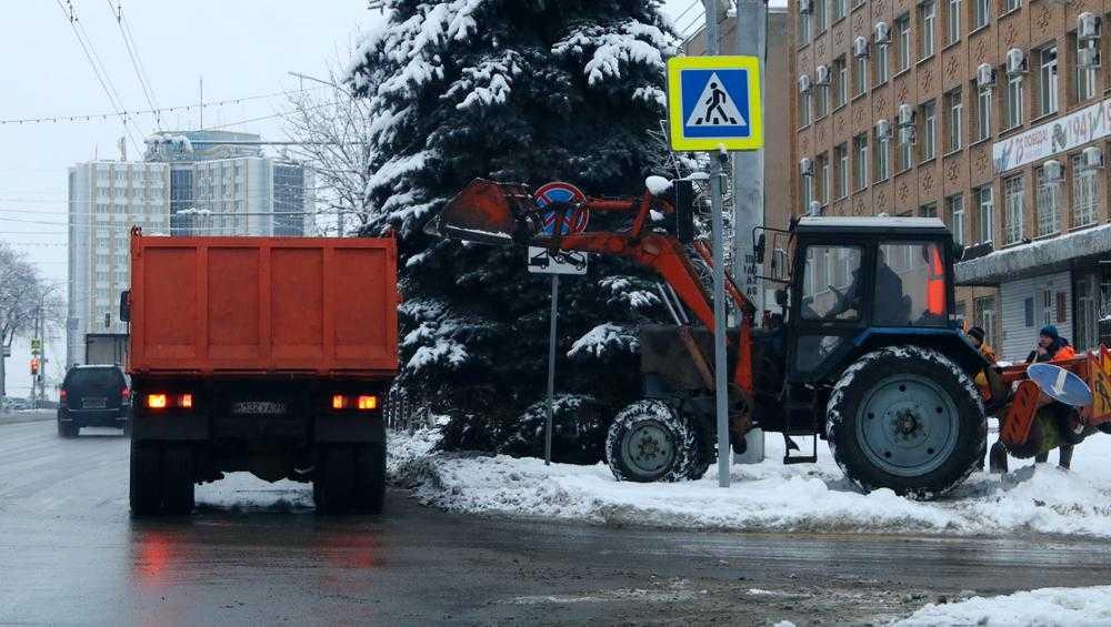 Из Брянска за сутки вывезли 50 тонн снега