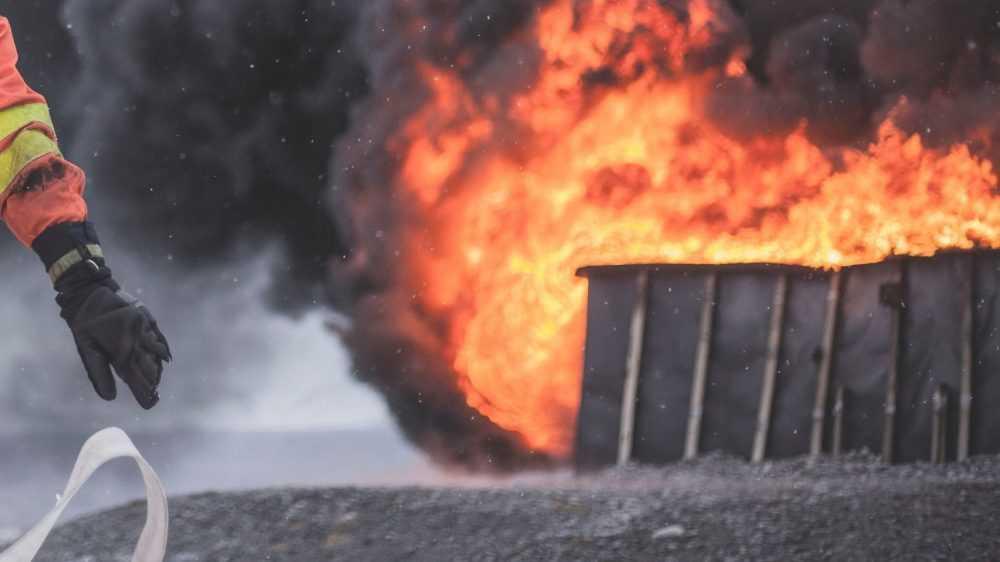 Под Новозыбковом за час потушили горевший дом