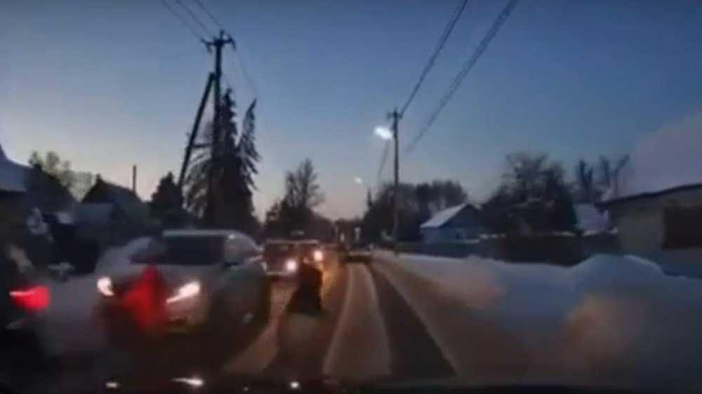 В Брянске появилось видео с попавшим под иномарку 7-летним мальчиком