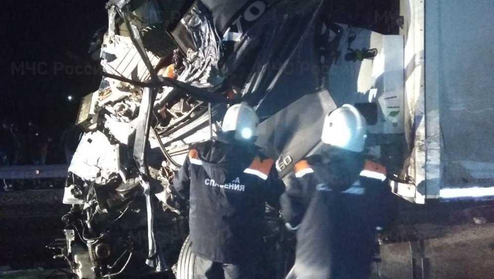 В ДТП с 2 грузовиками под Выгоничами погиб дальнобойщик