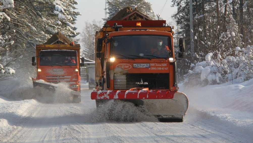 В Брянской области на борьбу со снегом вывели 277 машин