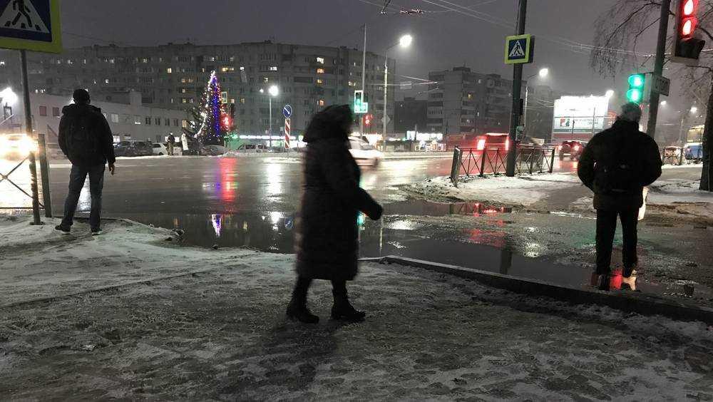 Погода испортила брянцам празднование Нового года