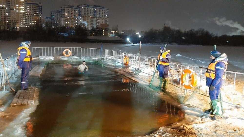 В Брянской области купания в Крещенскую ночь прошли без происшествий