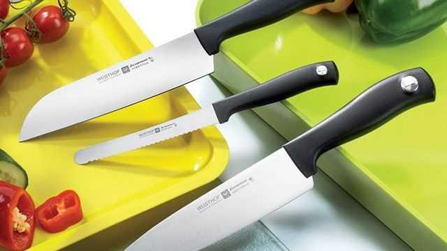 Японские ножи из дамасской стали и керамики