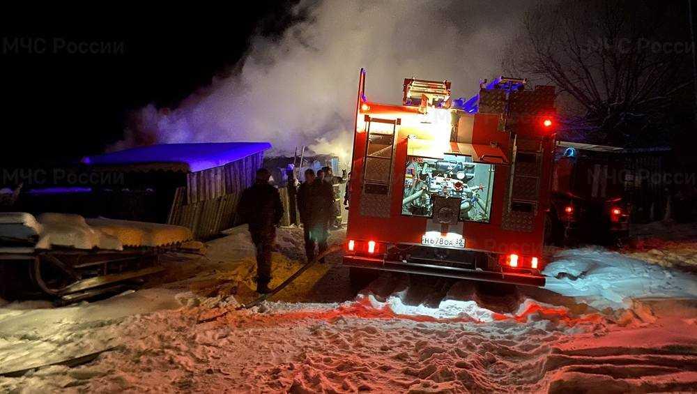 В Брянской области ночью сгорели два частных дома
