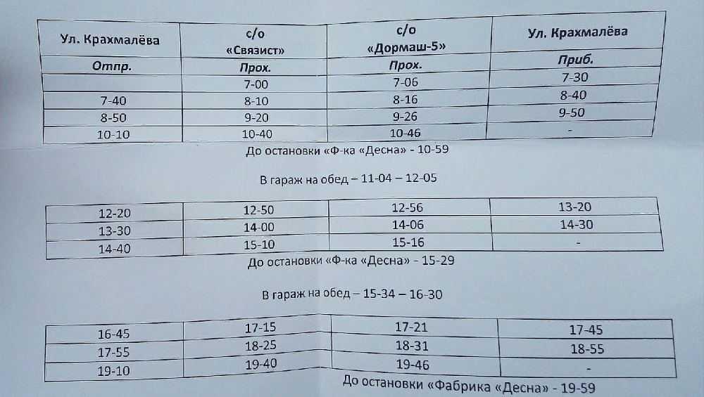 В Брянске изменилось расписание кольцевого автобусного маршрута № 110-Д