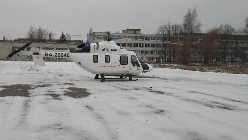Из Новозыбкова в Брянск на вертолете доставили пациента стоматологов