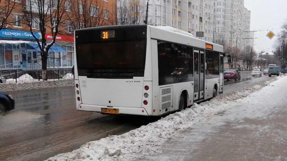 Обрушившийся на Брянск снегопад вмешался в расписание автобусов
