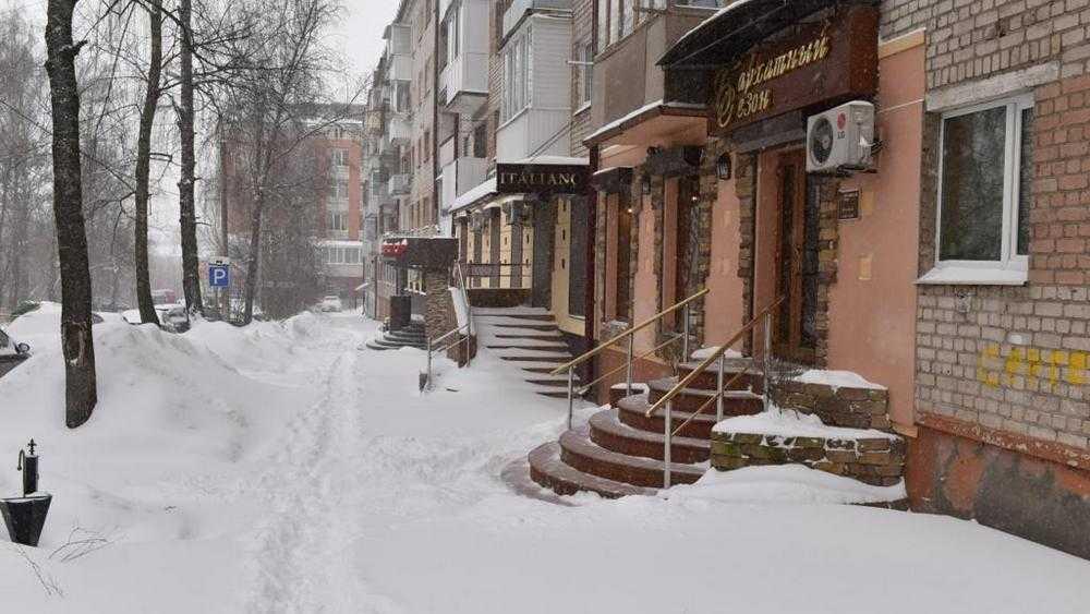В Брянске из-за снегопада не открылись многие магазины