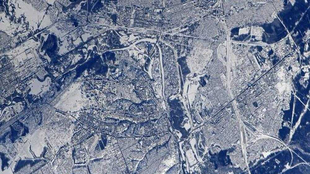 Заснеженный Брянск сфотографировали из космоса с борта МКС