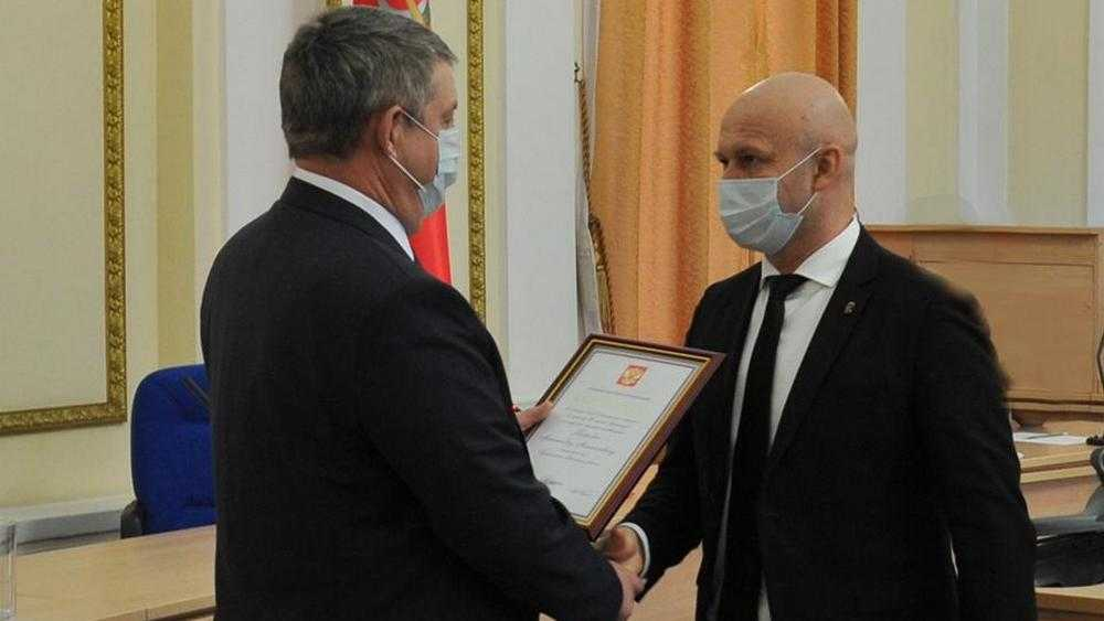 Президент поблагодарил заместителя Брянского губернатора Александра Коробко