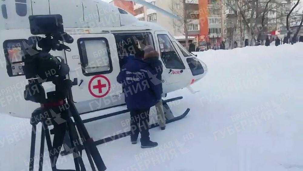Вертолет санавиации доставил в Брянск из Погара раненного в ДТП