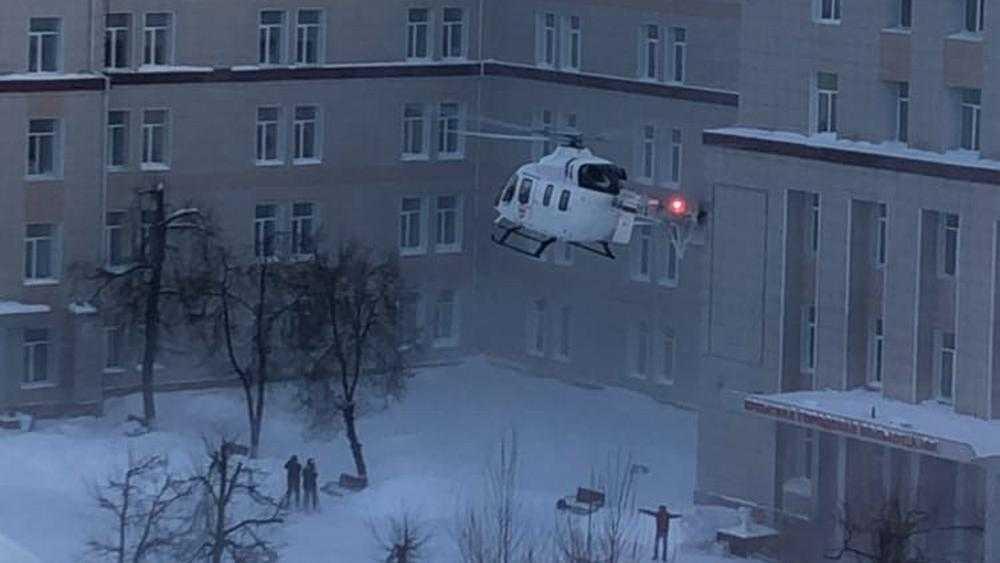 В Брянске на вертолете доставили раненого в серьезном ДТП мужчину