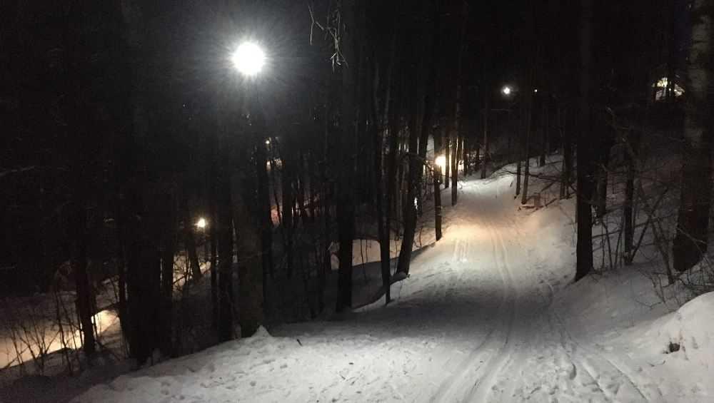 В Брянске в парке «Соловьи» появилась освещенная лыжня