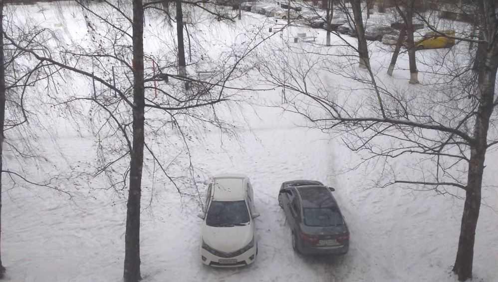 В Брянске автохам на иномарке перекрыл жильцам многоэтажки дорогу во двор