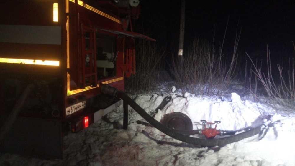 В Клинцах во время ночного пожара погибла 55-летняя женщина