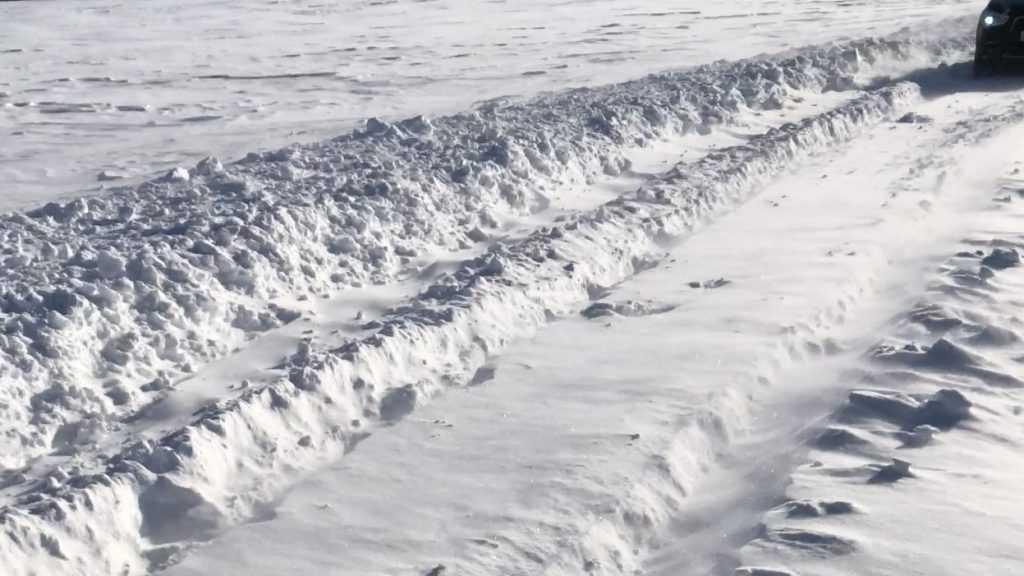 Брянские водители попали в снежный плен