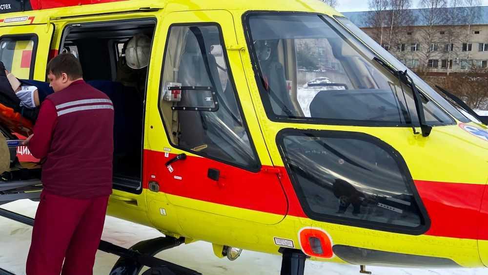 Раненного в ДТП военного переправили на вертолете из Унечи в Подольск