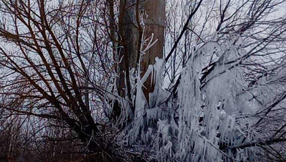 В селе под Новозыбковом образовался ледник возле водонапорной башни