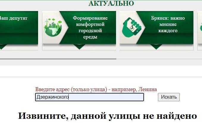 Благодаря сладко спящим депутатам в Брянске пропали все улицы