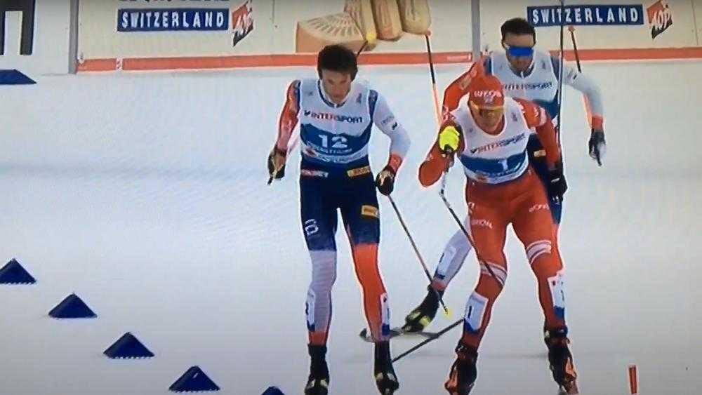 Брянский лыжник Большунов из-за сломанной палки получил лишь серебро чемпионата мира