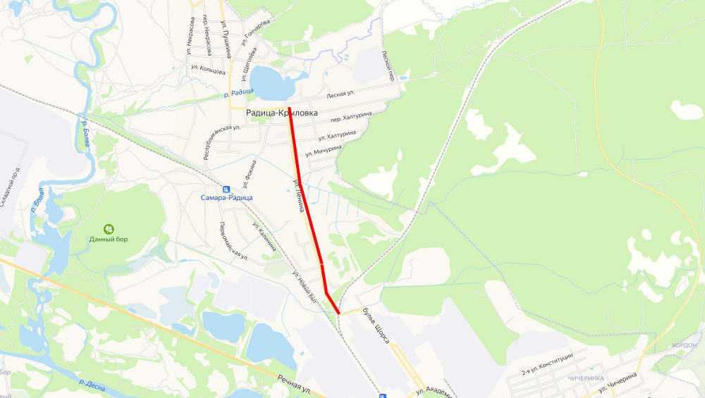 В брянском посёлке Радица-Крыловка отремонтируют две дороги