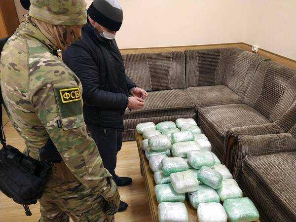 В Брянской области сотрудники ФСБ задержали украинца с марихуаной