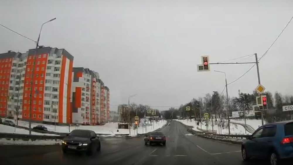 В Брянске автомобилиста призвали наказать за проезд на красный свет