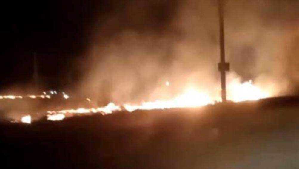 В брянском посёлке Чайковичи произошёл пожар из-за поджога травы