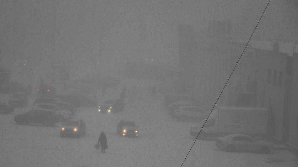 Погода преподнесла брянским женщинам накануне 8 Марта зимний снегопад