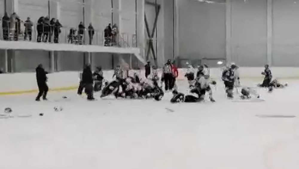 В Климове в Ледовом дворце произошла массовая драка юных хоккеистов