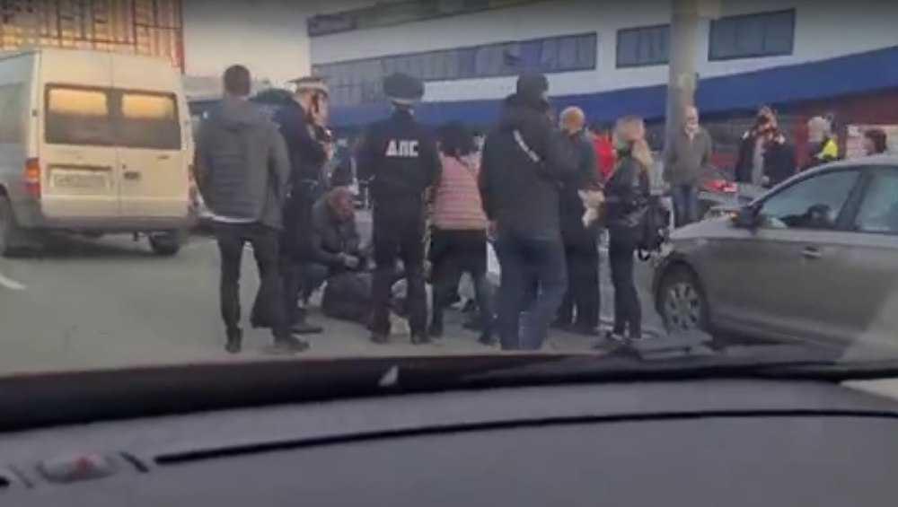 В Брянске на Московском проспекте возле «Линии» автомобиль наехал на пешехода