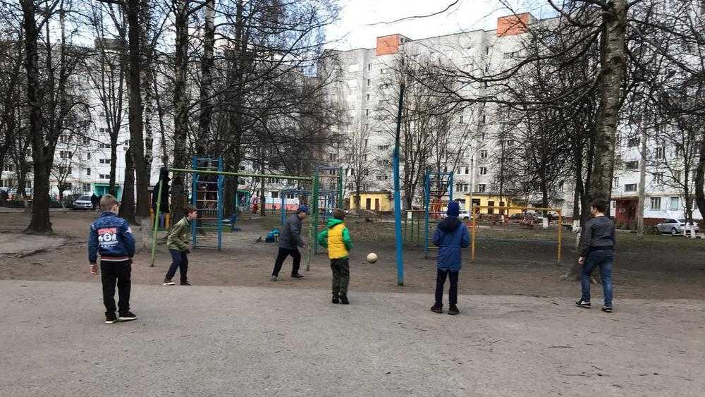 Брянских детей вынудили играть в футбол в железном лесу