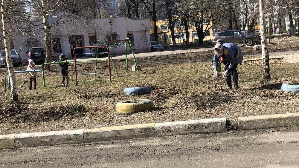Жители Брянска махнули рукой на коммунальщиков и сами взялись за грабли