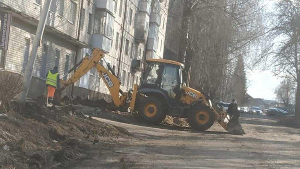 В Брянске начался капремонт дороги в переулке Осоавиахима