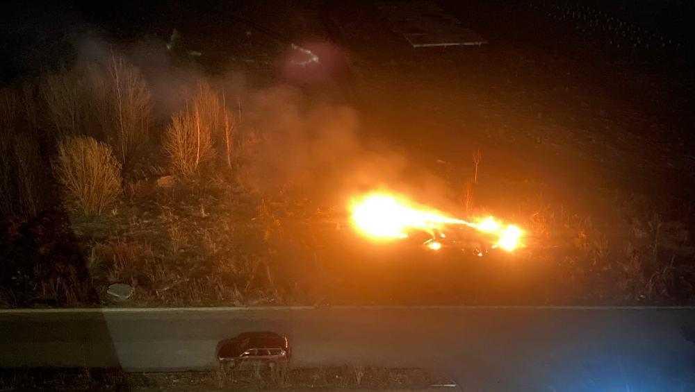Под Брянском в Мичуринском загорелась сухая трава вблизи жилых домов