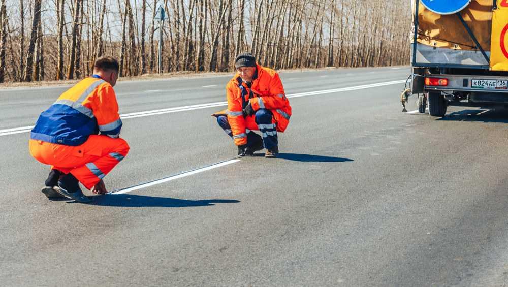 На федеральных дорогах Брянской области обновят разметку