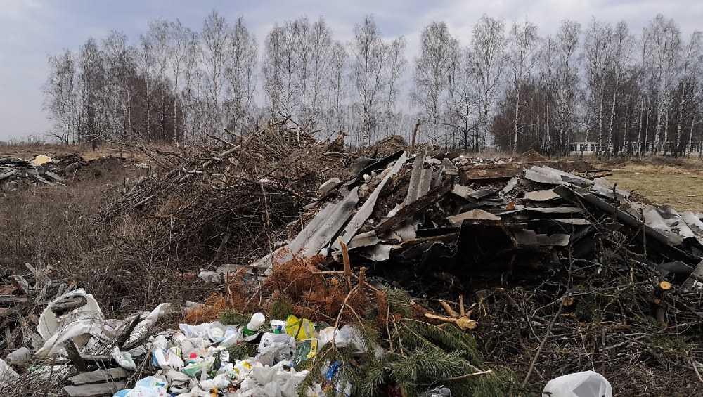 В Погарском районе жители села возле школы устроили свалку мусора