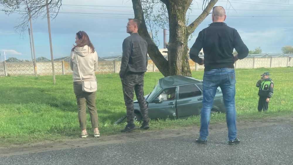 В жуткой аварии под Брянском погибли водитель и молодая пассажирка
