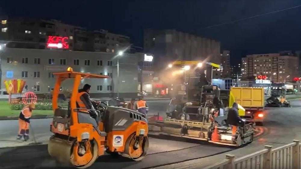 В Брянске отремонтировали кольцевую развязку на улице Ульянова