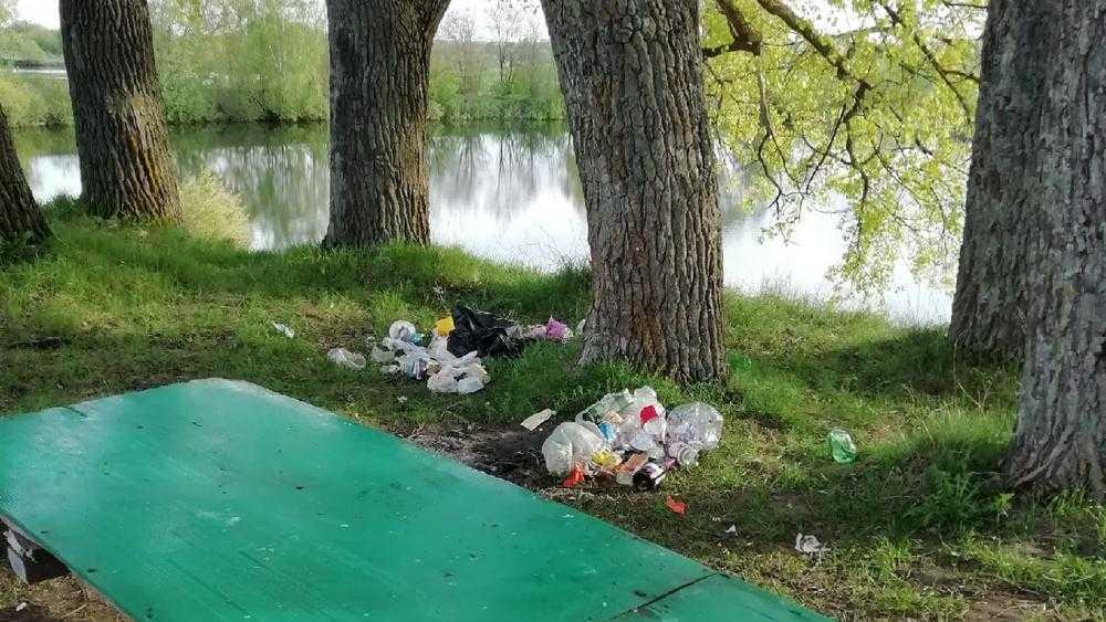 В Стародубе Брянской области берег Совхозного озера превратили в свалку