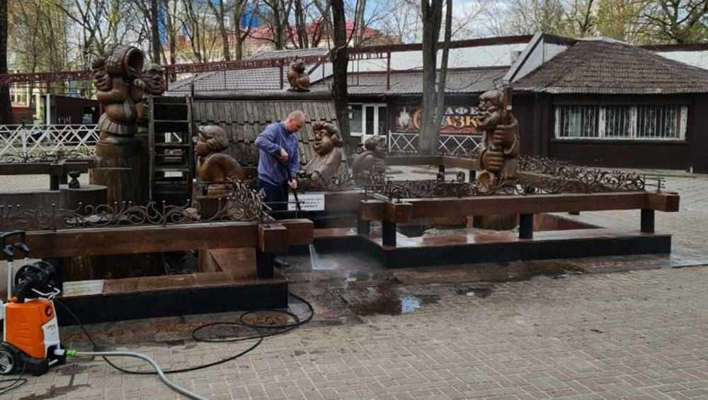 Брянские фонтаны начали готовить к запуску