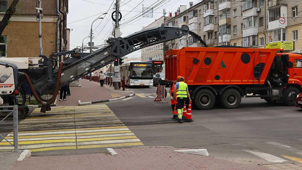 В Брянске начался гарантийный ремонт дороги на улице Горького