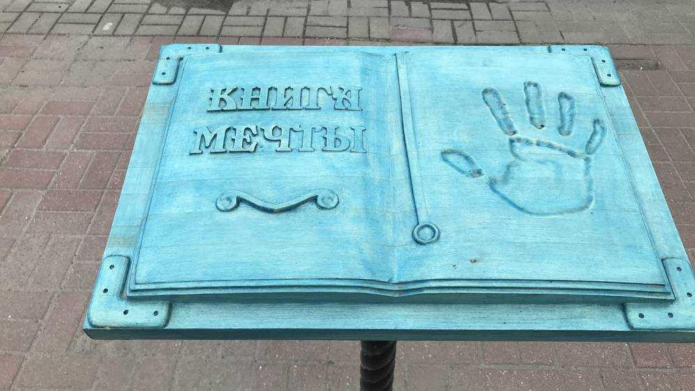 В Брянске посреди тротуара появилась «Книга мечты» для разбивания лбов