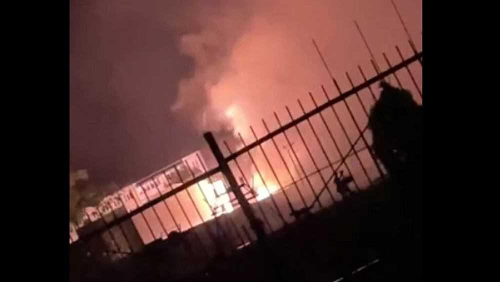 Строящийся в Новозыбкове Ледовый дворец ночью едва не загорелся