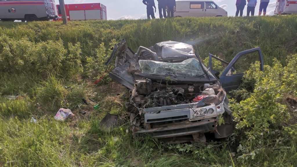 На брянской трассе под Навлей в ДТП погибла 36-летняя женщина и ранены дети