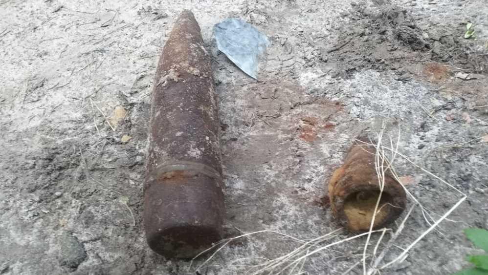 В Новозыбкове брянцев напугали два артиллерийских снаряда