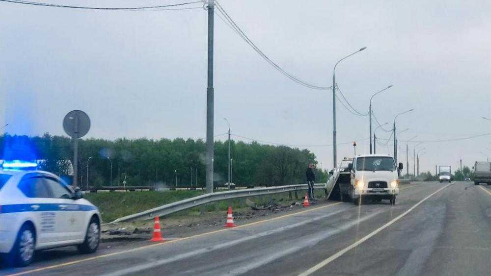 В Брянском районе на развязке объездной трассы произошло серьезное ДТП